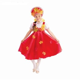 "костюм ""Осенняя кадриль"", 2 предмета: платье-сарафан, кокошник"