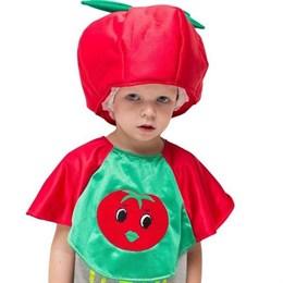 "костюм ""Помидор"", шапка, пелерина, рост 122-134 см, 5-7 лет"
