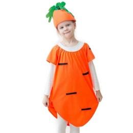 "костюм ""Морковка"", шапка, платье, 5-7 лет, рост 122-134 см"