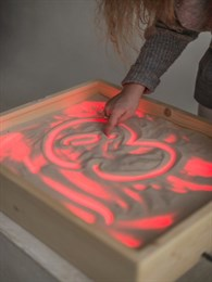 Планшет для рисования песком  (256 цветов + пульт + 1 кг песка)