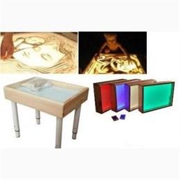 """Световой стол """"Малыш"""" (цветная подсветка) с песком 1 кг. и трафаретами"""