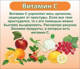 стенд ВИТАМИН С