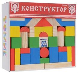 """Конструктор """"Цветной"""" 65 элементов"""