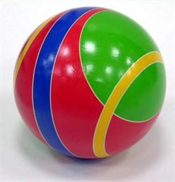 Мяч резиновый диаметр 200 мм  (в полоску)