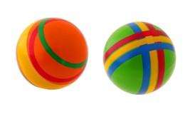 Мяч резиновый диаметр 150 мм  (в полоску)