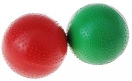 Мяч лакированный резиновый 100 мм однотонный