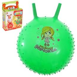 Мяч-попрыгун с рожками  массажный, d=55 см