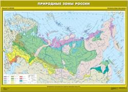 """Карта """"Природные зоны России"""" Начальная школа"""