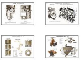 """Плакаты ПРОФТЕХ """"Электрооборудование распред. и трансформаторных подстанций"""""""