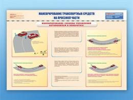"""Плакаты """"Маневрирование транспортных средств на проезжей части"""""""