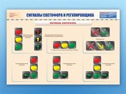 """Плакаты """"Сигналы светофора и регулировщика"""""""