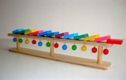 """Тактильно-развивающая панель """"Разноцветное домино"""" (настольный модуль, 12 домино)"""