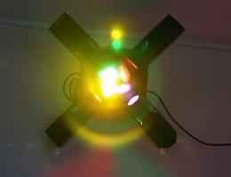 звукоактивируемый проектор светоэффектов  «РУССКАЯ ПИРАМИДА»