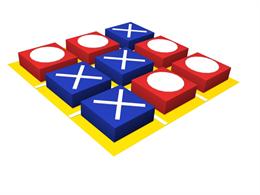 Развивающий мягкий модуль «Крестики-нолики