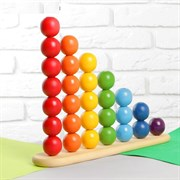 "Пирамидка ""Абака радуга с шариками"", шарик: 3,2 см"