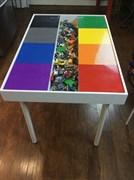 """Lego стол """"радуга"""" с двумя выдвижными крышками"""