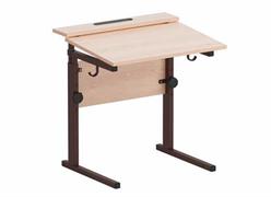 Стол ученический регулируемый с наклоном столешницы (0-15°) на прямоугольной трубе (Рост.гр.№2-4; 3-6)