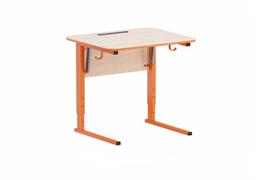 Стол ученический регулируемый с наклоном столешницы (0-24°)  углы столешницы закруглены. Каркас на  прямоугольной трубе, цветной