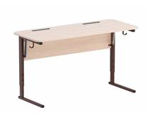 Стол ученический регулируемый. Наклон столешницы (0-24°) углы столешницы закруглены. Каркас на  прямоугольной трубе, цвет: коричневый