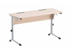 Стол ученический регулируемый.Наклон столешницы(0-24°)  Каркас на плоскоовальной трубе: серебристый