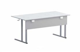 Стол лабораторный  ФИЗИКА с  2 розетками  (пластиковая столешница, серая)