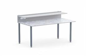 Стол лабораторный пристенный,  цвет ЛДСП: серый
