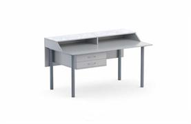Стол демонстрационный приставной,   цвет  ЛДСП: серый