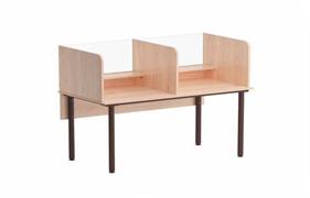 Стол для лингафонного кабинета со стеклом.